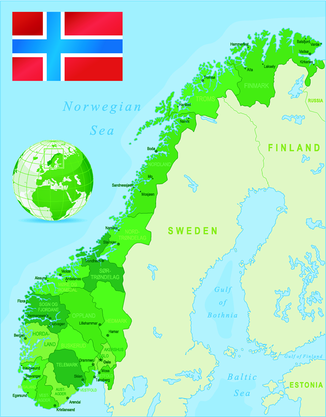Map Of Norway - I Stock -451027453